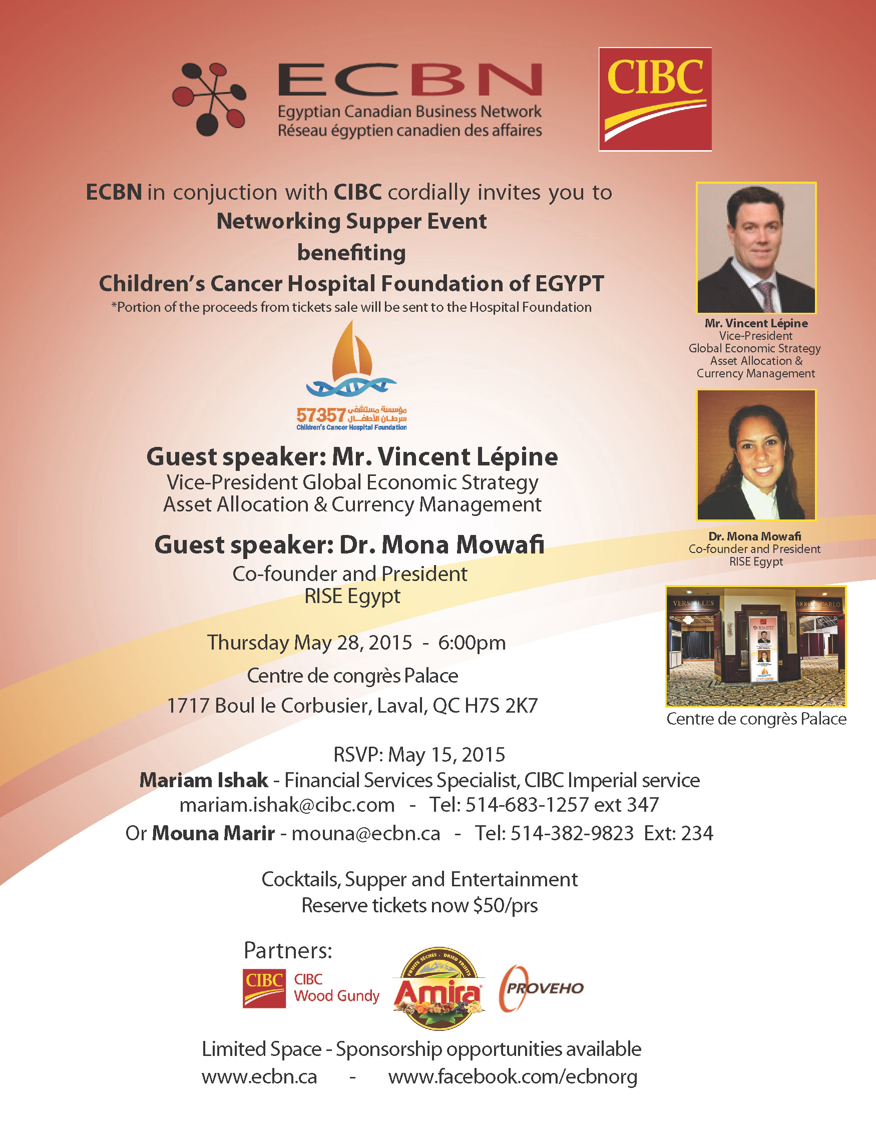 Networking Event | May 28 – Egyptian Canadian Business Network